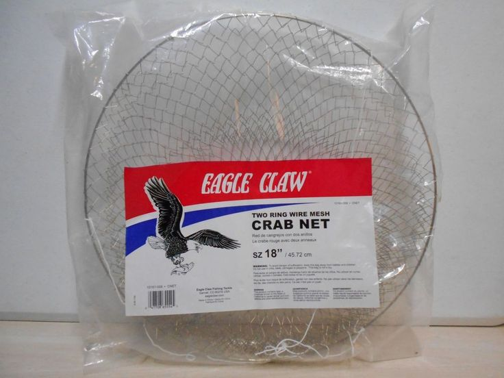 Large Eagle Claw Crab Net NEW Fisherman's Silver Wired Crab Pot   #EagleClaw