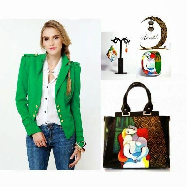 Hanùl Style Blog   Borse e  accessori dipinti a mano: UN OUTFIT PICASSIANO! IL SOGNO DI PICASSO SU BORSA...#borsedipinte #borsedipinteamano #accessoriinpelledipinti #outfitmoda2015 #moda #fashion #braccialidipinti