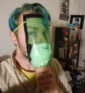DIY Gas Mask With A 2 Liter Soda Bottle Not exactly the best but something is always better than nothing at all
