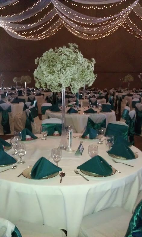 How To DIY Tall Babys Breath Centerpieces : Wedding IMAG1510. Teal Wedding  CenterpiecesWedding DecorationsDiy ...