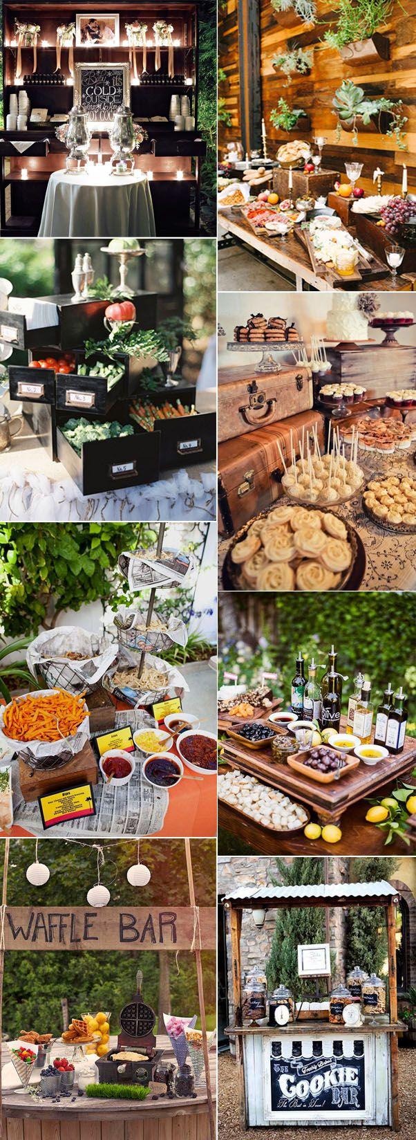 elegant and vintage wedding food bar ideas