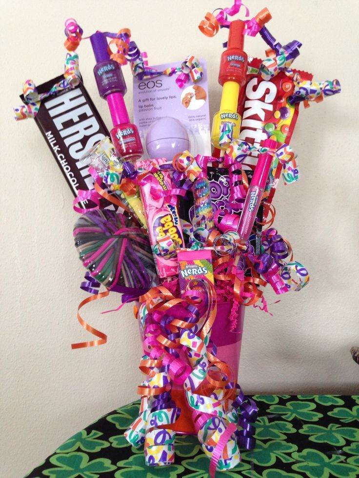 Pin by Tiffany Hurks on Gift Ideas | Birthday gift baskets ...