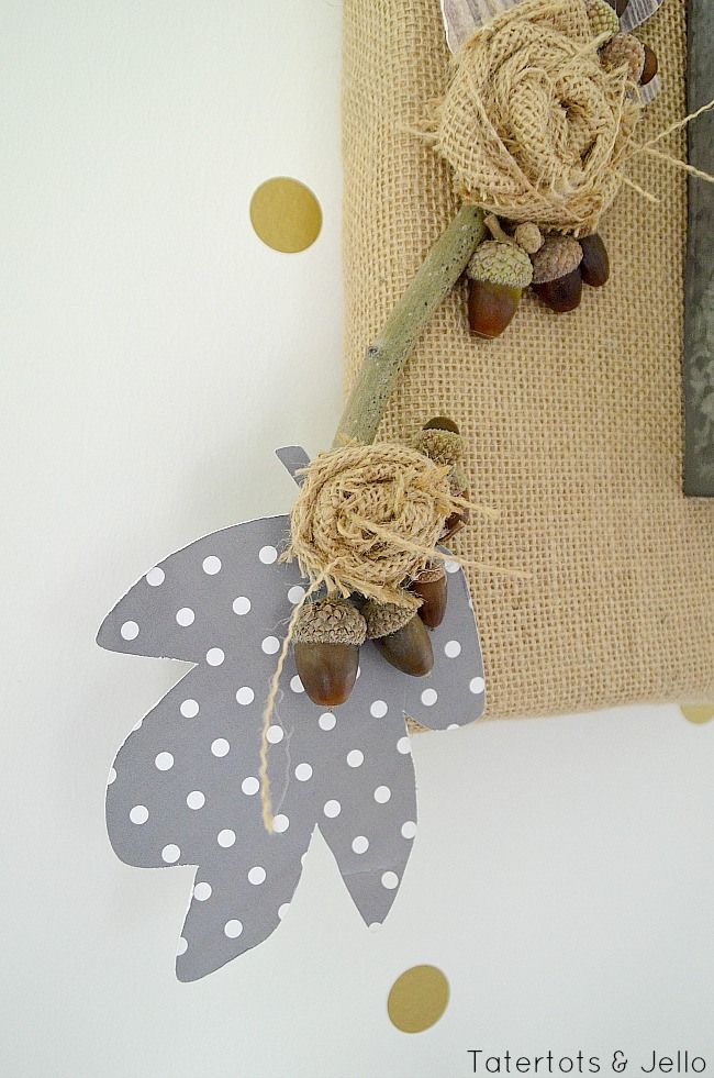 Fall Burlap and Metal Letter Wall Hanging! -- Tatertots and Jello