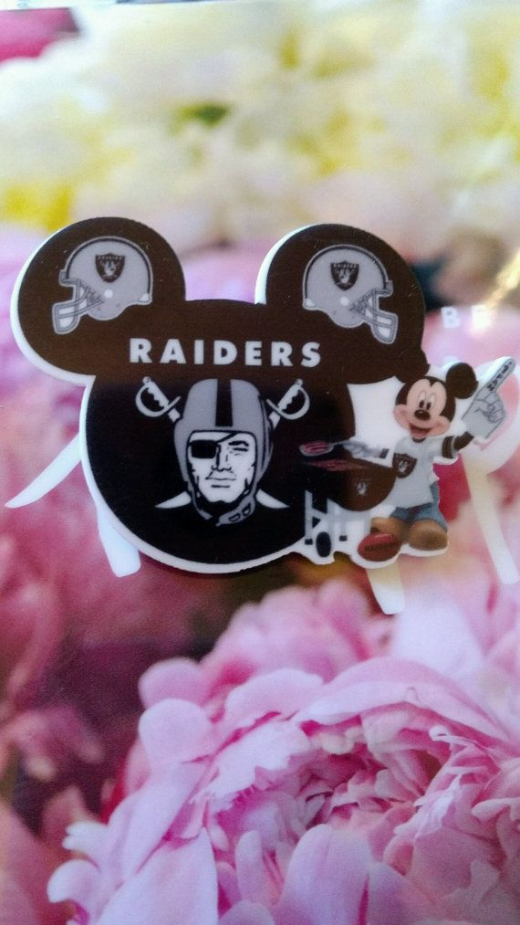 Check out this item in my Etsy shop https://www.etsy.com/listing/503538553/oakland-raiders-mickey-mouse-pin