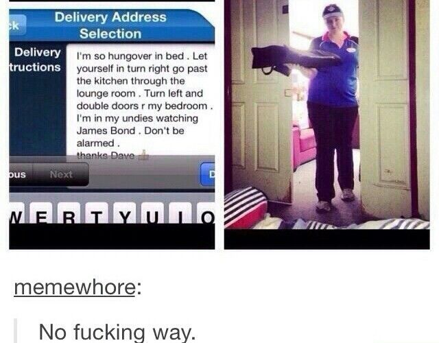 Best pizza delivery person ever