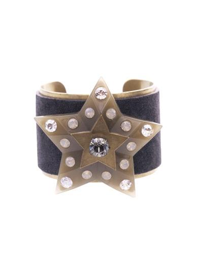 Lanvin - Suede & Swarovski crystal star cuff