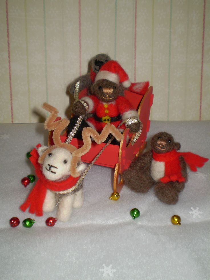 As Rudolph was rather busy Tilly volunteered to help Santa Claws with some of his early deliveries.