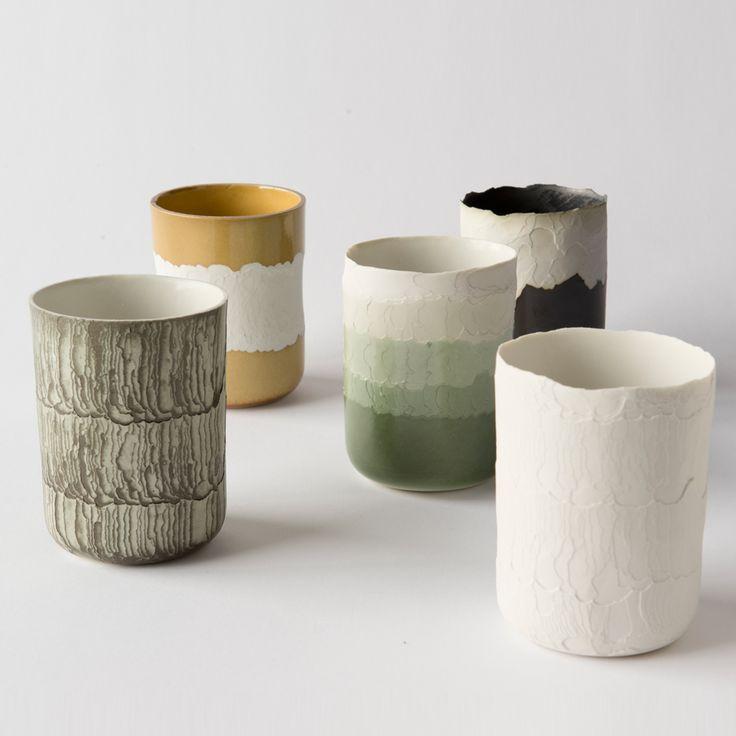 Floris Wubben etches patterns into Erosion ceramics using heat