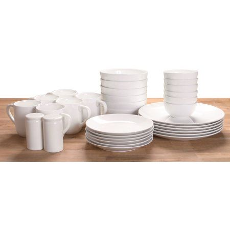 Free 2-day shipping on qualified orders over $35. Buy 32-Piece Dinnerware Set, White at Walmart.com