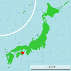 Location of Tokushima Prefecture