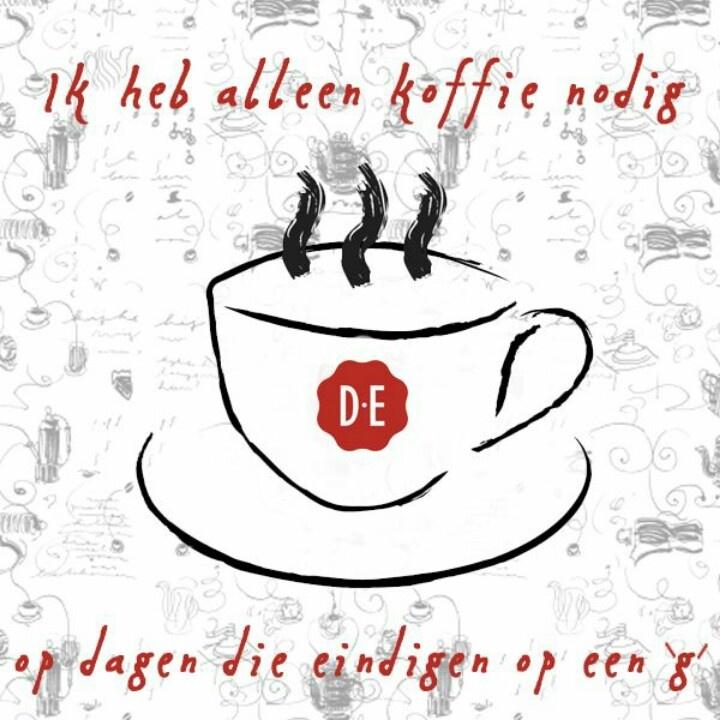 Je kunt de dag niet beter beginnen dan met koffie!