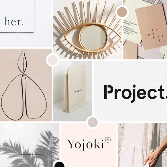 Beautiful neutrals. Moodboard for new branding project.