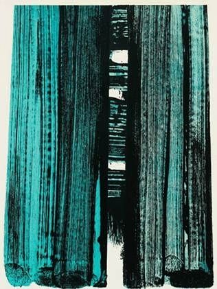 Pierre Soulages - Abstract Art - Informal Painting - Lithographie N°42 1979