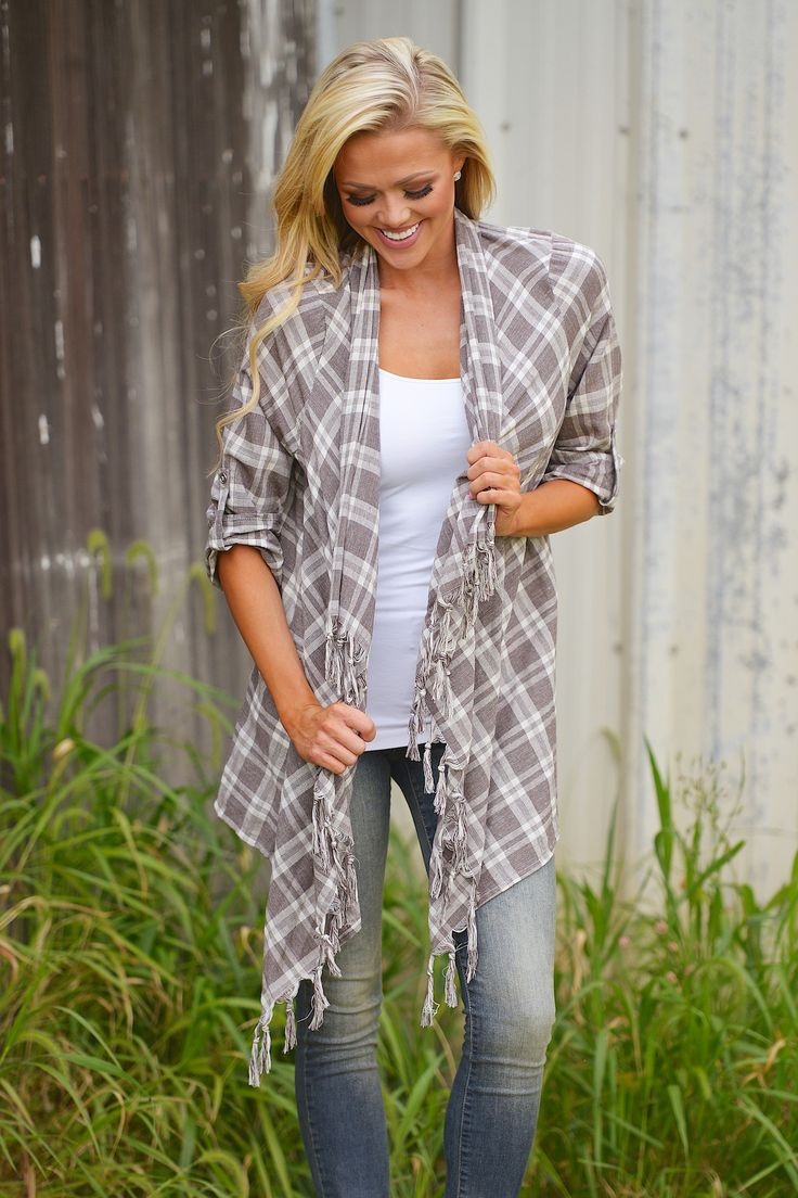 Your Love Will Keep Me Warm Flannel Cardigan from Closet Candy Boutique