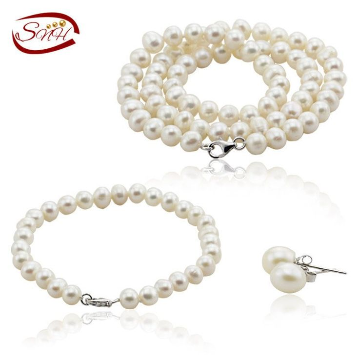 White Color Freshwater Pearl Jewelry Set