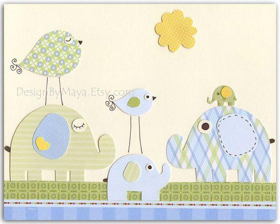 Niños Nursery Decor - impresión del arte para niños guardería habitación tamaño 8 x 10