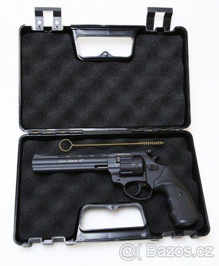 """Flobertka: Zoraki Streamer 6″ (záruka 2018) - Nabízíme flobertový revolver Zoraki Streamer 6″ TOP stav. V záruce do 23.12.2018 Technické parametry: Kalibr: 6mm flobert Výkon: 7,5 J Kapacita válce: 9 ran Délka hlavně: 6 """" Výška: 140 mm Šířka: 35 mm Celková délka: 280 mm Hmotnost: 913 g Zboží posílám na dobírku do druhého dne od objednání. Cena dobírky je 95,- kč Osobně si můžete zboží vyzkoušet a vyzvednout ve Zlíně na adrese: Bartošova 4393, Zlín 760 01 každý den od 8-18 hodin pro více…"""