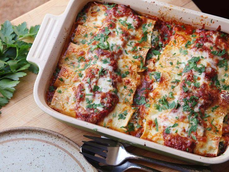 Spinach and Ricotta Manicotti Recipe | Serious Eats