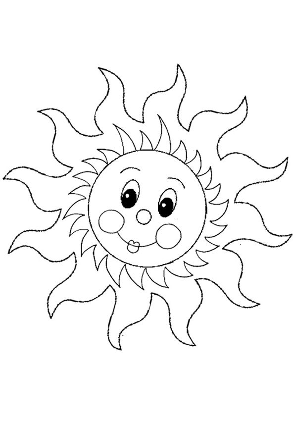 Free Online Sun Colouring Page - Kids Activity Sheets: Australiana Colouring Pages
