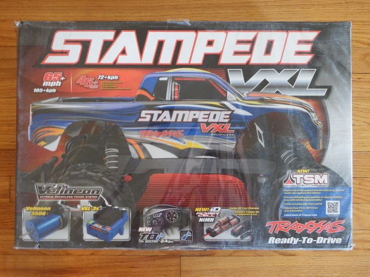 TQi 2.4GHz Radio System. TRAXXAS- STAMPEDE VXL BRUSHLESS TRUCK RTR WITH TRAXXAS VELINEON 3500 MOTOR - MODEL# 36076-3. STAMPEDE VXL BRUSHLESS TRUCK RTR WITH TRAXXAS VELINEON 3500 MOTOR. 8.4V NiMH Traxxas Power Cell Battery with iD. | eBay!