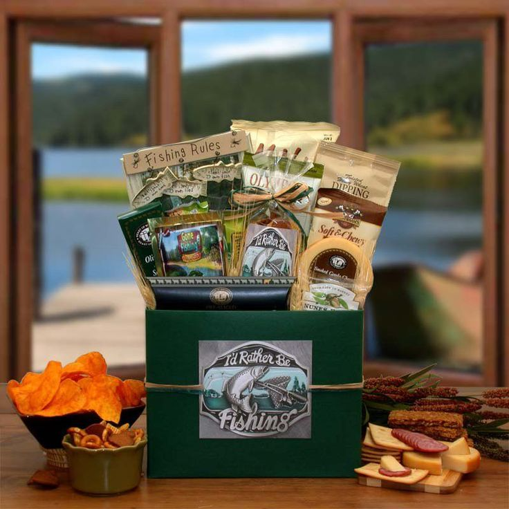 Best 25 fishing gift baskets ideas on pinterest men gift id rather be fishing gift basket box 852152 negle Images