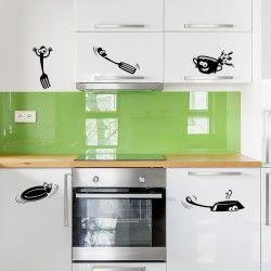 Vinilos utensilios de cocina para dar un poco de alegría a los muebles de  su hogar 1c95a04c627b