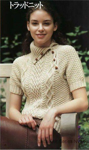 Узорчатый пуловер спицами. Обсуждение на LiveInternet - Российский Сервис Онлайн-Дневников