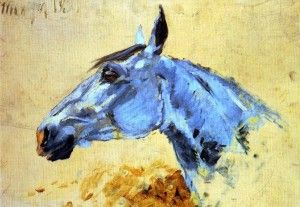 Head of a grey horse by Henri de Toulouse-Lautrec 1882.