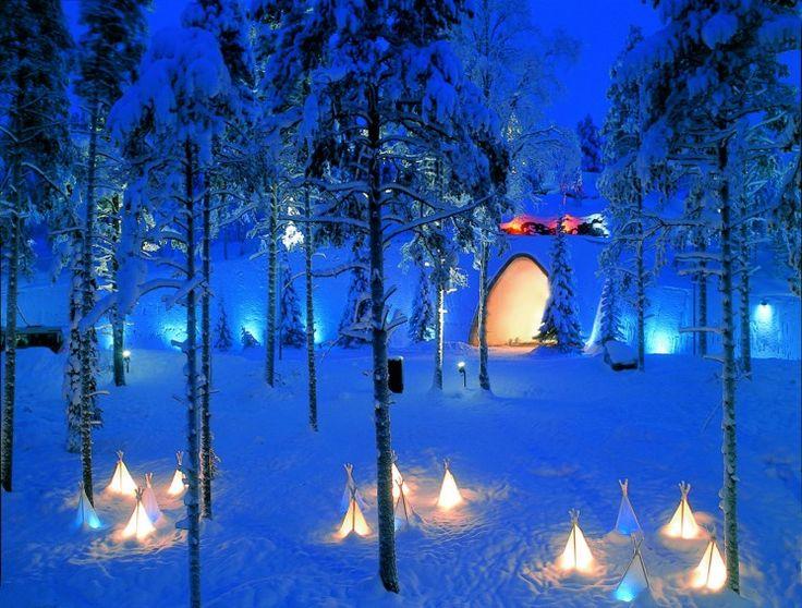 Santapark in Arctic Circle.