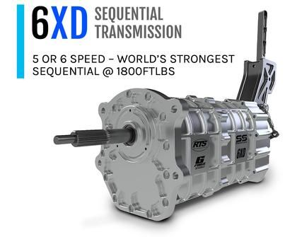 6 Speed Sequential Racing Dogbox Transmission - RTS 6XD