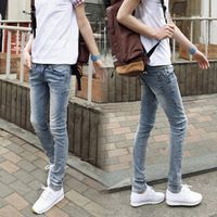 Men ' s pantalones vaqueros nueva primavera moda hombres de Micro elástico jeans ajustados luz informal para hombre pantalones pies vendados los pantalones de caballero