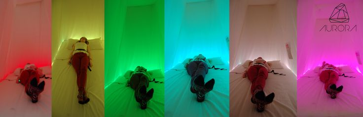 Aurora project. Interactive installation to promote relaxation by creative media students from Dundalk I.T