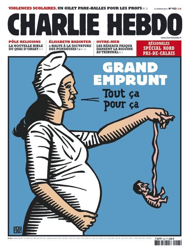Charlie Hebdo - # 923 - 24 Février 2010 - Couverture : Honoré