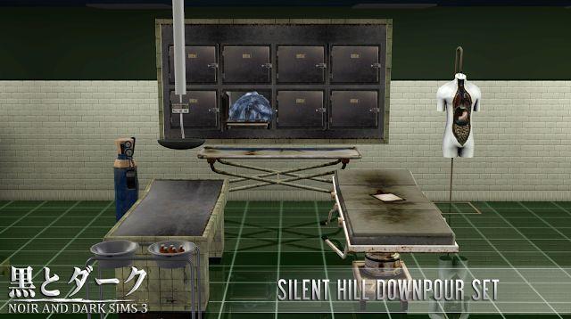 TS3 - Silent Hill Downpour Set ~ Noir and Dark Sims