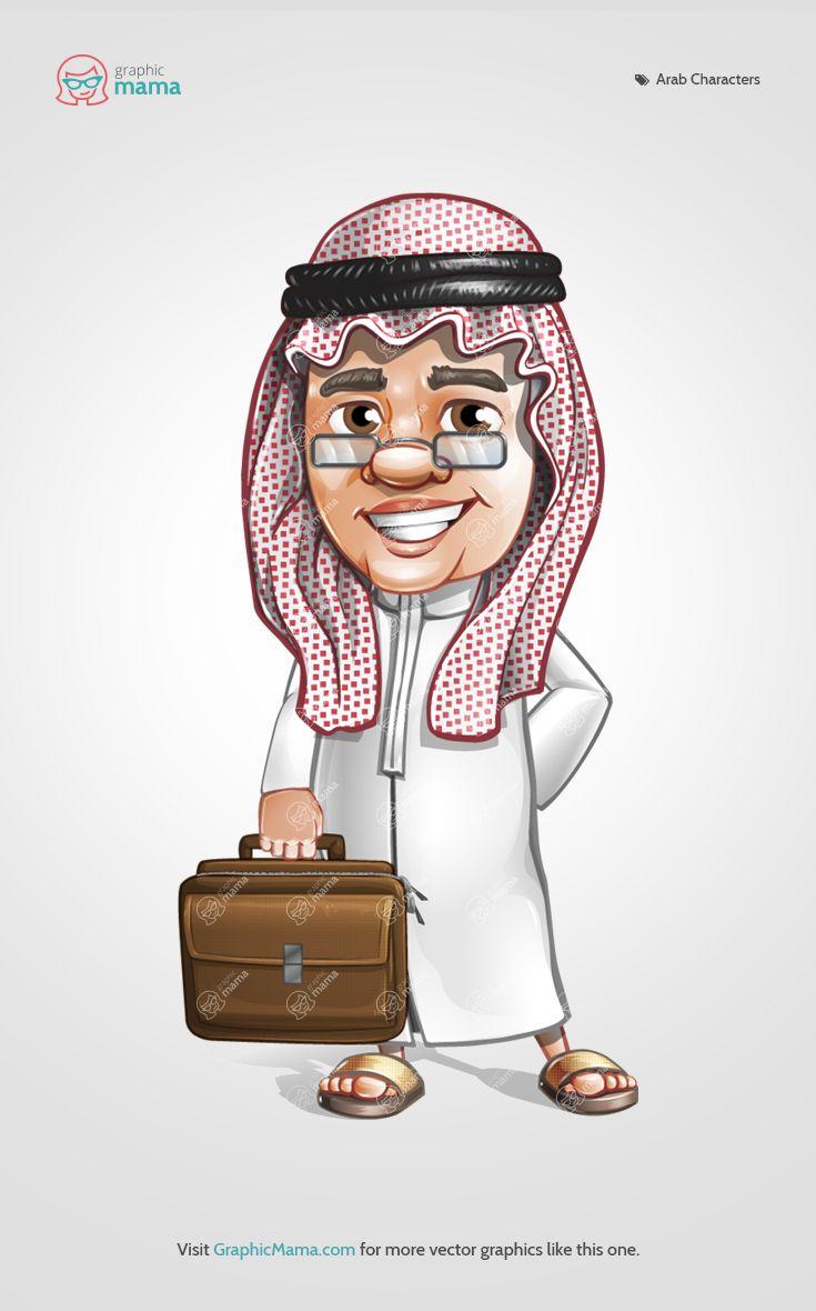 75 Best Arab Men And Women Vector Cartoon Characters -4036