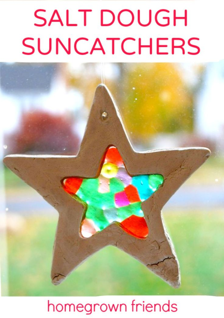 Salt Dough Suncatchers - would also make pretty ornaments if you used holiday colored beads and ribbon