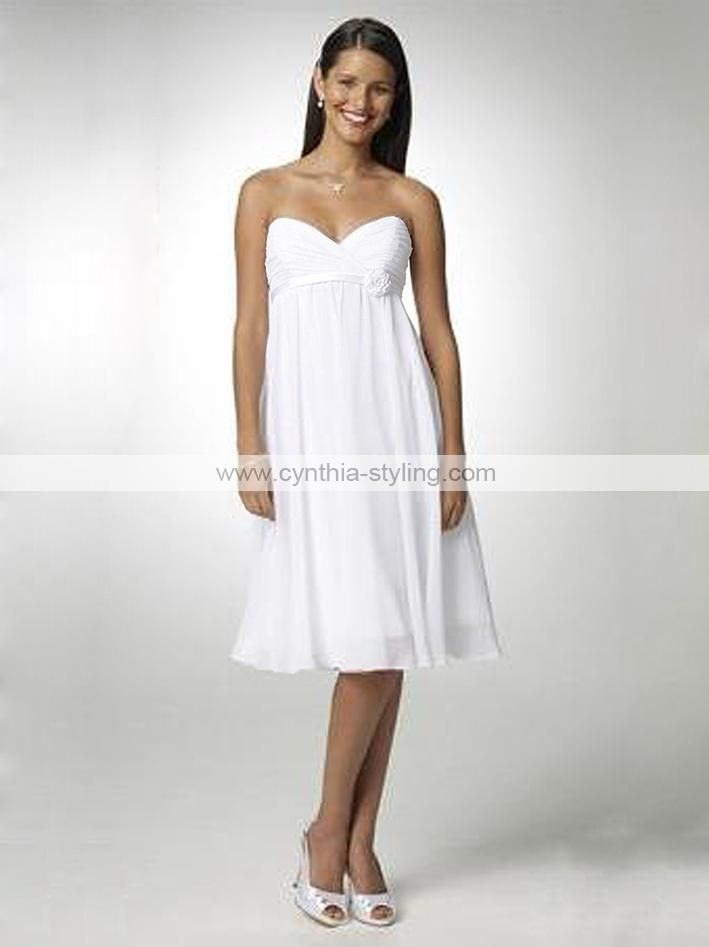 casual bridal wedding dress white prom dress