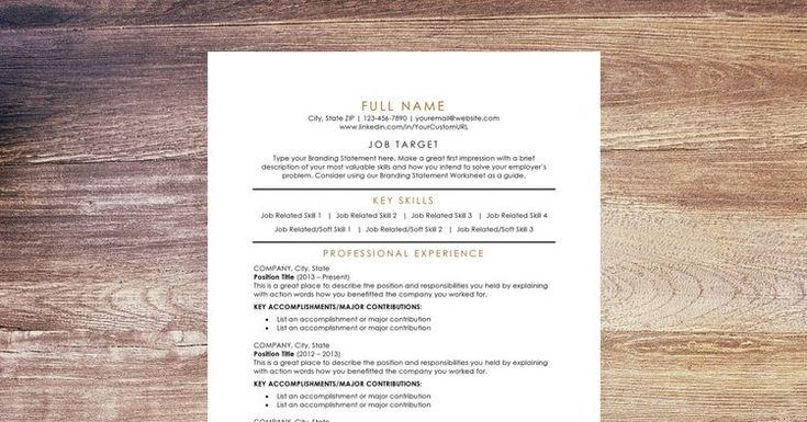 Get a premium resume template designed by a Certified Professional Resume Writer - Off The Clock Resumes