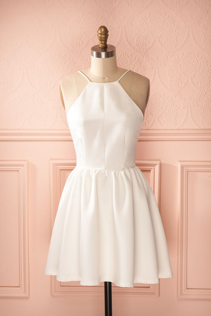 Gasparine Rose - Light pink A-line sleeveless halter open-back dress
