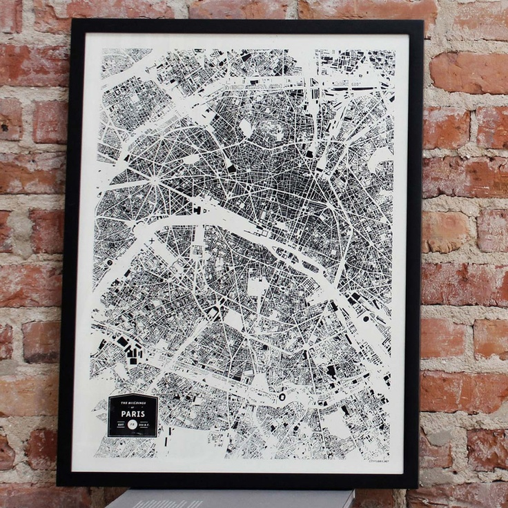 Map Of Paris And Attractions%0A Buildings Of Paris Print