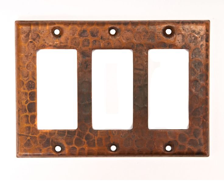 3 Gang Rocker Wall Plate Premier Copper Products