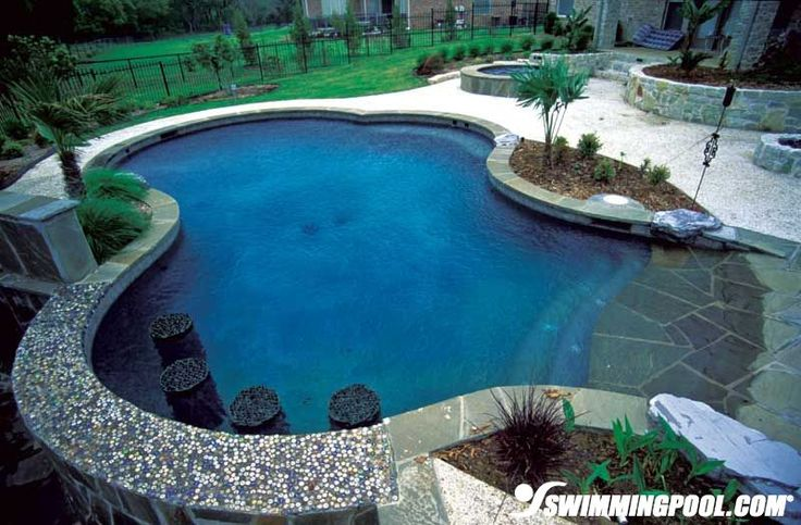 Gunite Pool With Bar Seating My Dream House Tree House