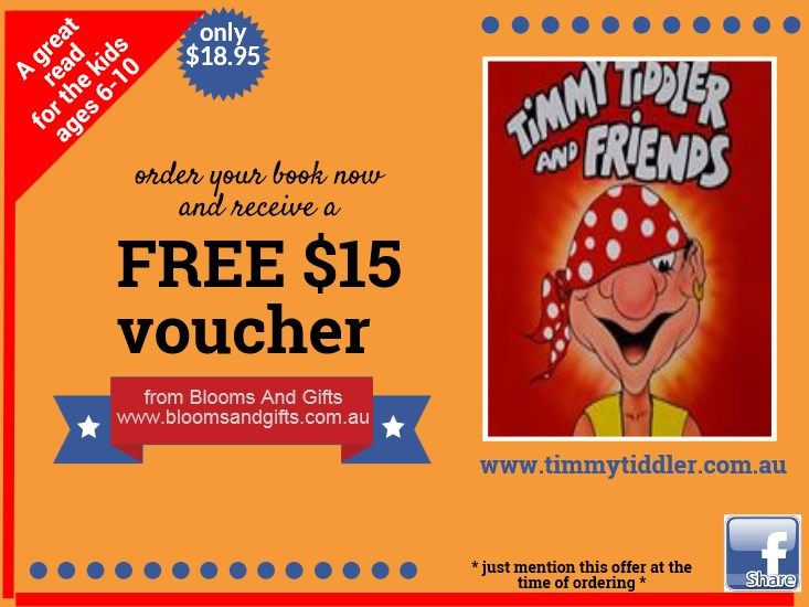 One for the children who love books and a voucher for mum/dad.  This is a book about #anti #bullying.  https://www.facebook.com/timmytiddlerandfriends