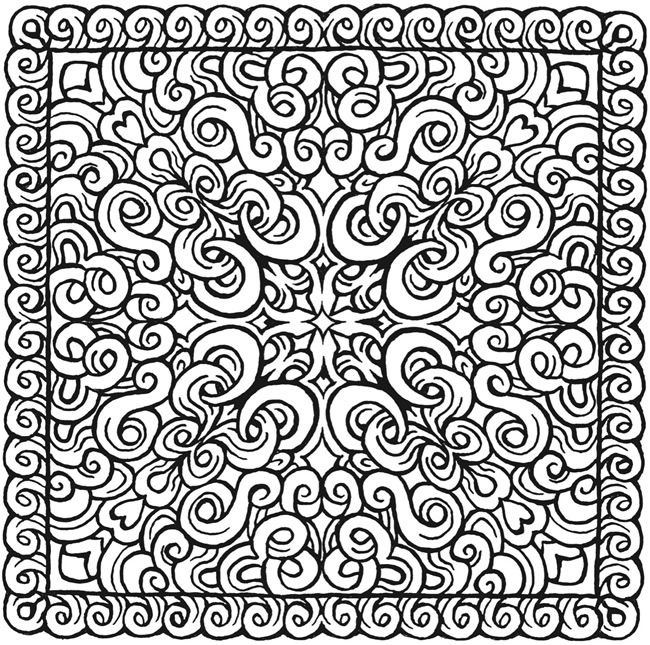 Simple Square Mandala Coloring Pages Galleryhipcom