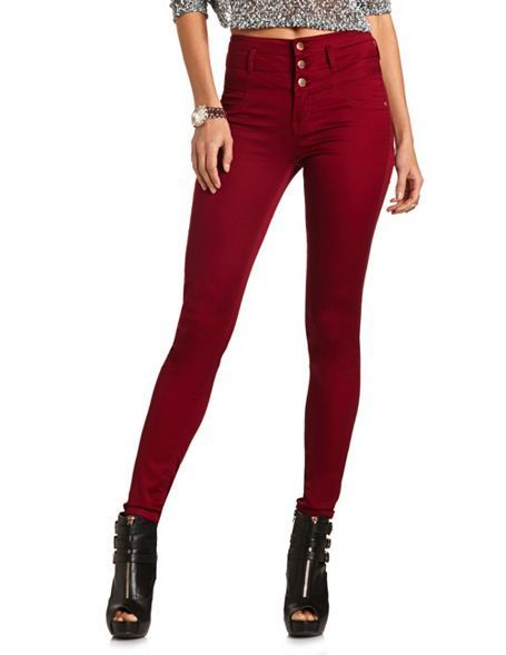bigchipz.com high waisted colored skinny jeans (12) #skinnyjeans