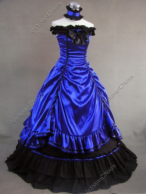 Southern Belle Ball Gown Victorian Old West Riding Dress Theatre Costume 135