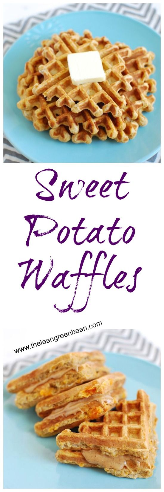 Sweet Potato Waffles ⅓ cup cooked, mashed sweet potato ¼ cup plain yogurt 2 eggs ¼ cup white whole wheat flour (or oat flour) ¾ teaspoon baking powder ½ teaspoon cinnamon ½ teaspoon vanilla extract