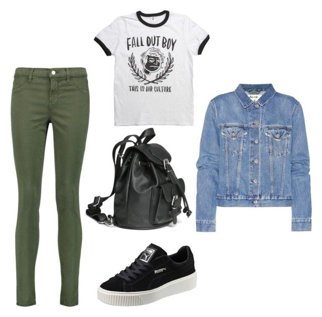 everyday casual by elenisgourou on Polyvore featuring polyvore fashion style Acne Studios J Brand Puma clothing