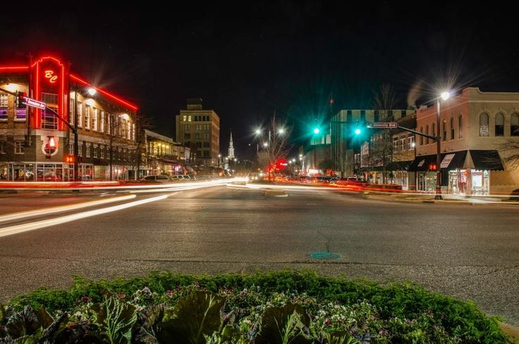 downtown Tuscaloosa, Alabama