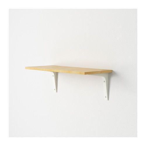 EKBY LAIVA Shelf, birch effect birch effect 24x59 cm